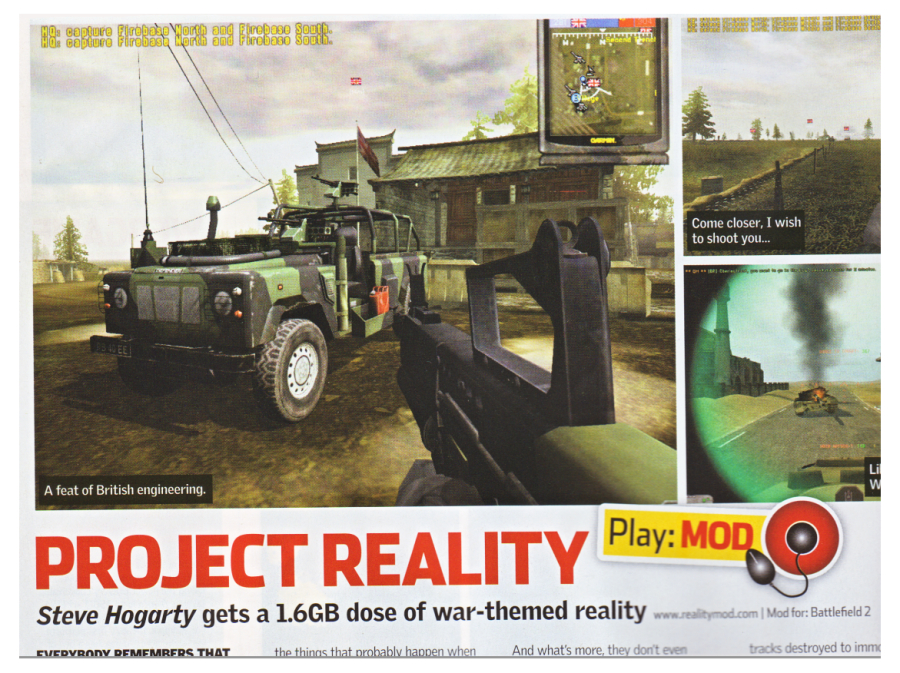 PC Zone Magazine review of Project Reality